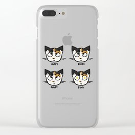 Moods of a cat. Clear iPhone Case