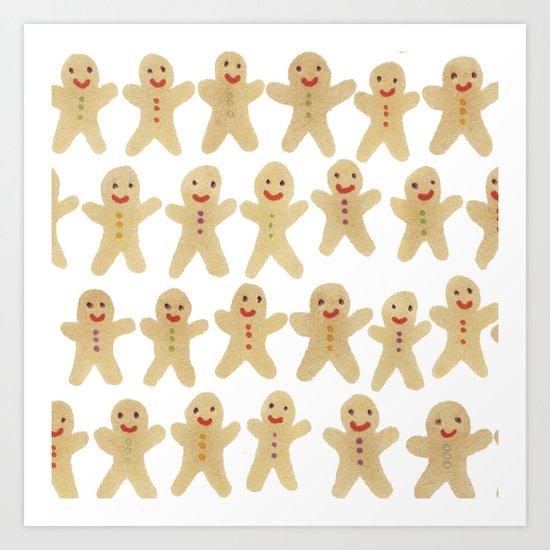 Gingerbread people Art Print