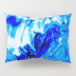 Fluid Abstract 32; Crashing Waves Pillow Sham
