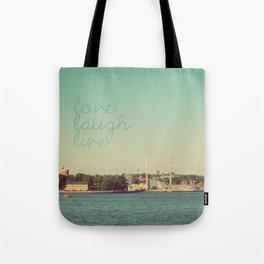 Love Laugh Live Stockholm Tote Bag