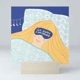 Sleepy Head & Evil Eye #illustration Mini Art Print