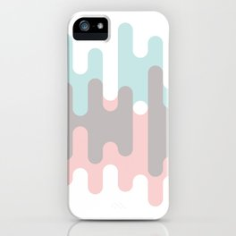 Pastel Pink ,Gray and Blue Liquid Shape iPhone Case