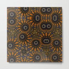 Staring eyes of weird mandalas Metal Print