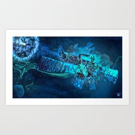 Machine Gun 7 Art Print