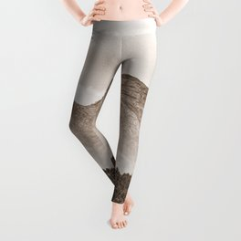 The mountain beyond the forest Leggings