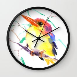 Oriental Kingfisher Wall Clock