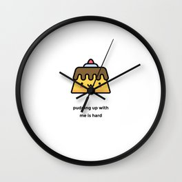 JUST A PUNNY PUDDING JOKE! Wall Clock