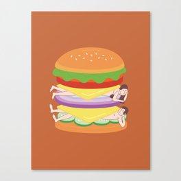 Love Burger Canvas Print