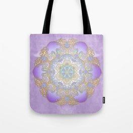 Purple & Gold Mandala Tote Bag