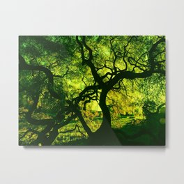 Green is the Tree Metal Print