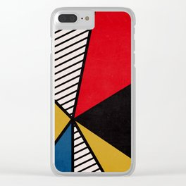 Primary Colors and Stripes Clear iPhone Case