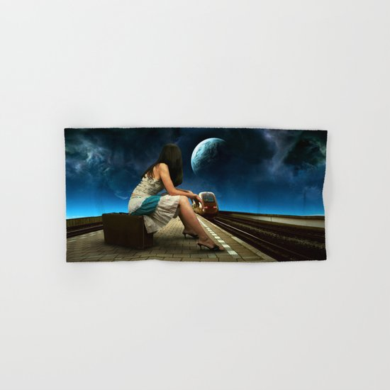 Midnight Train Hand & Bath Towel