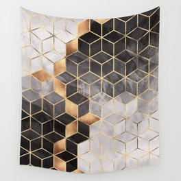 Smoky Cubes Wall Tapestry