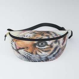Tiger Cub Watercolor Fanny Pack