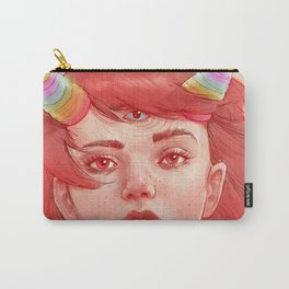 Red girl with horns Carry-All Pouch