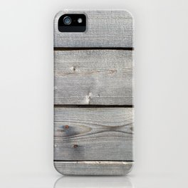 old wooden planks background iPhone Case