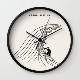 Crowd Surfing Wall Clock