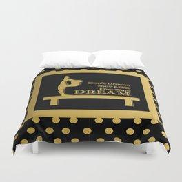 Gymnastics-Gold and Black Live your Dream Design Duvet Cover
