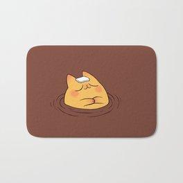 Coffee Tea Onsen Cat Bath Mat