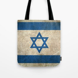 Old and Worn Distressed Vintage Flag of Israel Tote Bag