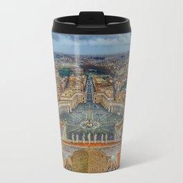 Piazza San Pietro, Vatican City, Panoramic View Travel Mug