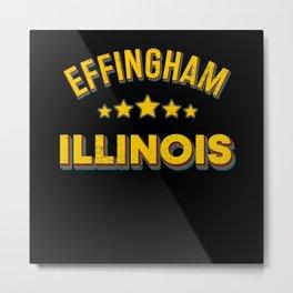 Effingham Illinois Metal Print