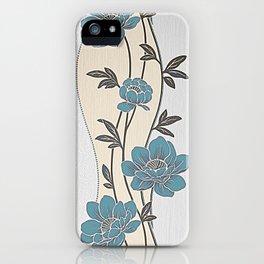 Greenish Blue Flower Garland iPhone Case