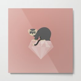 14 Ferret Diamond Metal Print