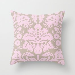 French chic pink Throw Pillow