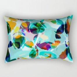 AquaFloral Rectangular Pillow