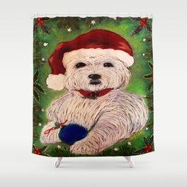 A Very Westie Christmas Shower Curtain