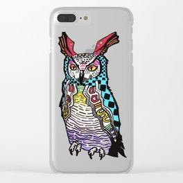 Mayan NightOwl Clear iPhone Case
