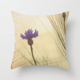 FLOWER Bluebottle Throw Pillow
