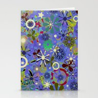 asia Stationery Cards featuring Asia Blue by gretzky