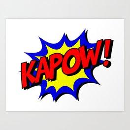 Vintage Comic Book Kapow Onomatopoeia Art Print