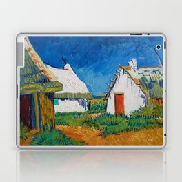Three white cottages in Saintes-Maries by Vincent van Gogh Laptop & iPad Skin