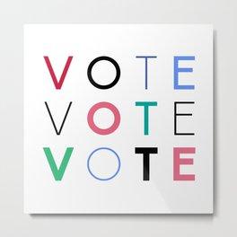 Vote Baby Vote 031416 Metal Print