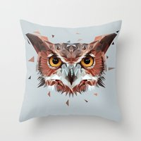 hunter Throw Pillows featuring Hunter by Jordan Smith