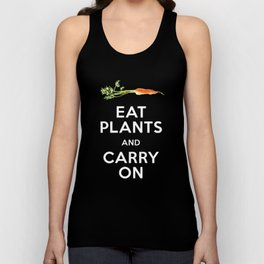 Eat Plant and Carry On Ultra Violet Background Unisex Tank Top