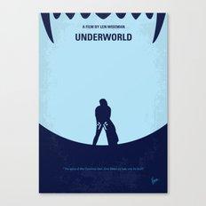 No122 My UNDERWORLD minimal movie Canvas Print