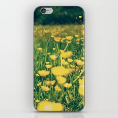 Field of yellow iPhone Skin