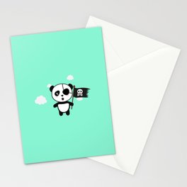 Panda Pirate with Flag T-Shirt for all Ages Da19o Stationery Cards