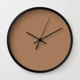 Café Au Lait - solid color Wall Clock