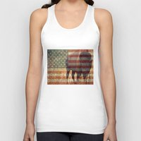 patriotic Tank Tops featuring Patriotic Bison  by IndigoGallery
