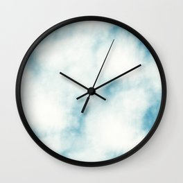 white clouds tie dye Wall Clock