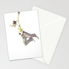 young man falling Stationery Cards