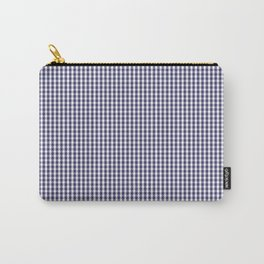 USA Flag Blue and White Gingham Checked Carry-All Pouch