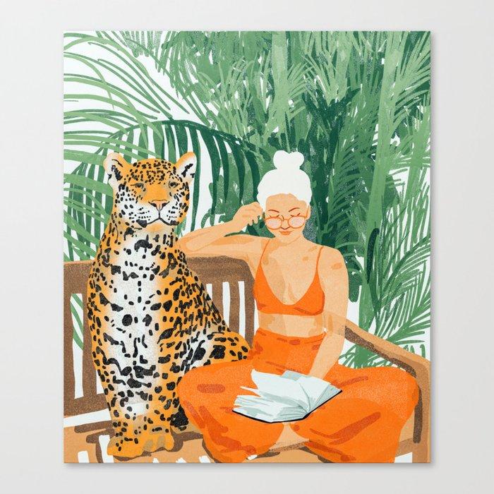 Jungle Vacay #painting #illustration Canvas Print