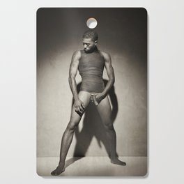 Photograph Nude Male man Wrapped in wrap Cutting Board