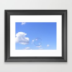 Fragile Spheres Framed Art Print